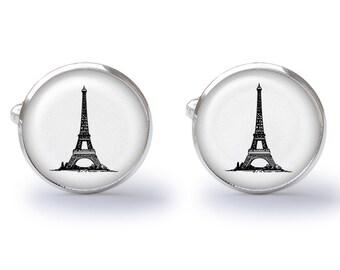 Eiffel Tower Cufflinks - France Cufflinks - French Cuff Links - Paris Cufflink (Pair) Lifetime Guarantee