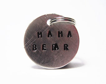 Mama Bear Stamped Charm