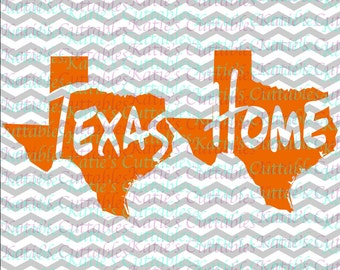 Texas Home Name Deign .SVG/.DXF/.EPS and .png Files for EveryVinyl Cutting Machine