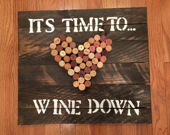 Time to Wine Down Cork Art
