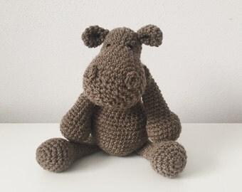 Crocheted Animal - Hippo
