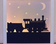 Train silhouette Framed Night light