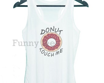 Donut tank top **racerback tank top**exercise shirt **men women tank top size S M L XL