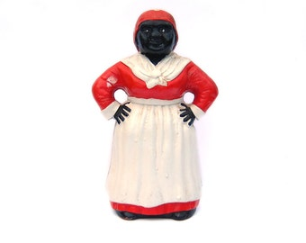 Vintage Aunt Jemima Cast Iron Coin Bank