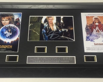 Labyrinth signed David Bowie filmcell Limited Edition number 24.