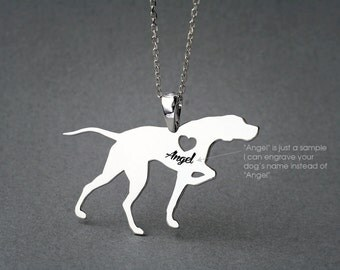 ENGLISH POINTER NAME Necklace - English Pointer Necklace - Personalised Necklace - Dog breed Necklace - Dog Necklace