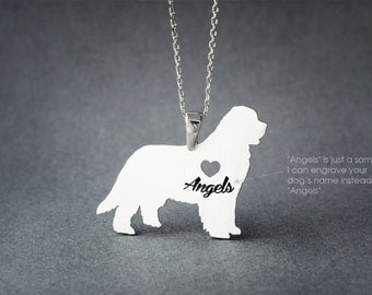 NEWFOUNDLAND DOG NAME Necklace - Newfoundland Dog  Name Jewelry - Personalised Necklace - Dog breed Necklace - Dog Necklaces