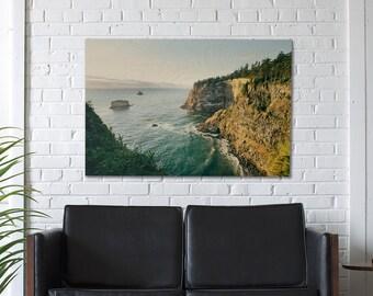 Oregon Cliff, Ocean Photography, Oregon Coast, West Coast Lifestyle, Beach Decor, Modern Decor, Modern Home, Beach Scenes, Wood Print
