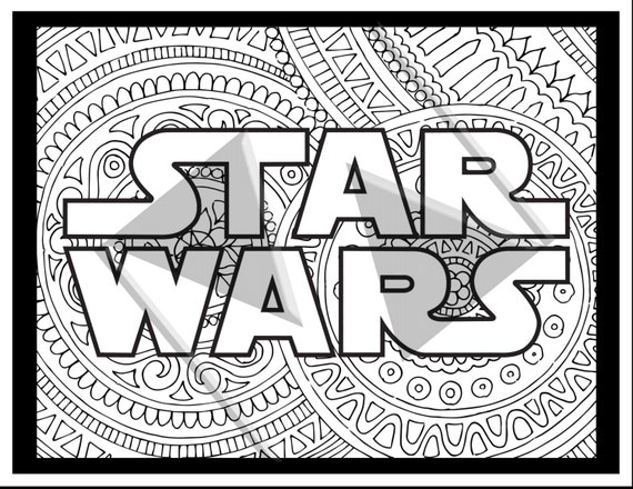 Star Wars Coloring Pages Logo Printable Adult Book Sheet Gifts