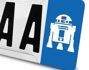 Sticker R2D2 Star Wars for number plates