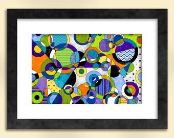 Circles 5 Abstract Art Print