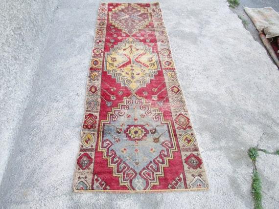 Tappeto kilim di corridoio vintage runner tappeto oushak turco - Il tappeto del corridoio ...