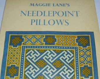 Needlepoint Pillows Maggie Lane Twelve Popular Designs Plus One Turtle Frog BumblebeeButterfly
