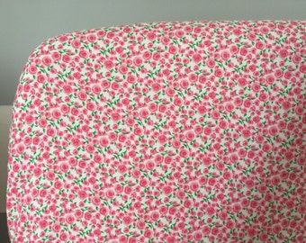 Baby bedding - sheet outline/Crib sheet/small Roses / cloth cover