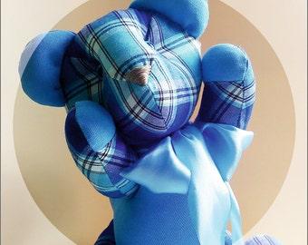 Textile Checkered Bear