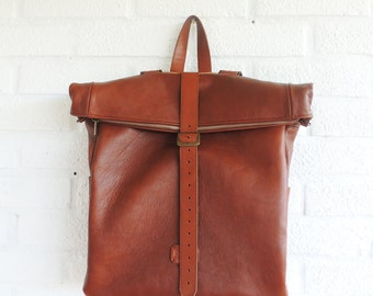 Backpack - camel leather