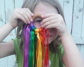 Waldorf Hand Kites, Imaginative Play, Learning Colors,