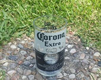 One large upcycled Corona Extra glass