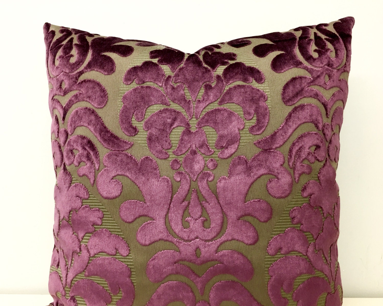 Velvet Decorative Pillow Covers : Plum Velvet Pillow Cover Velvet Pillow Velvet by artdecopillow