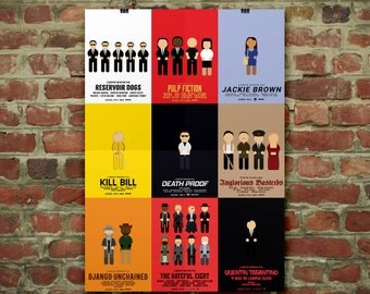 The Quentin Tarantino Film Collection | Illustration Poster Art Minimal