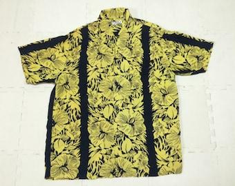 Rare SUN SURF Hawaii Sportswear Rayon Aloha Shirt Large Size