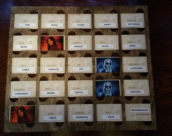 Codenames game board to hold all the cards in place