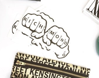 Richmond Knuckle Tattoo Sticker