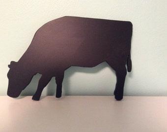 Handmade cow silhouette chalkboard or blackboard