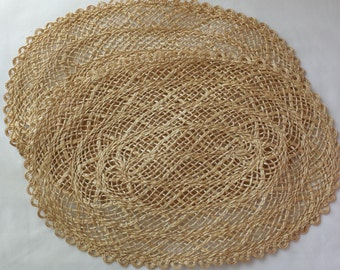Natural Fiber Place Mats, Vintage Place Mats, Table Decor