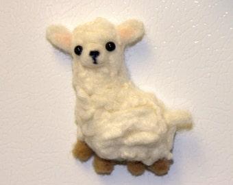 Miniature Alpaca  Magnet -Felted Alpaca Magnet -Needle Felted Alpaca Magnet-Alpaca Doll-Animal Magnet-Animal Home Decor