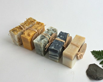 Soap Set of 5 Natural Handmade Soaps- Soap Gift Set- Handcrafted Soap gift set