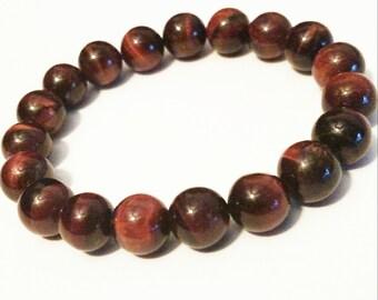 Red tiger eye bracelet