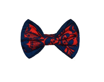 Navy Blue And Red Botanic