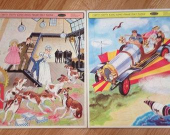 Vintage Whitman Chitty Chitty Bang Bang Puzzles Set of 2