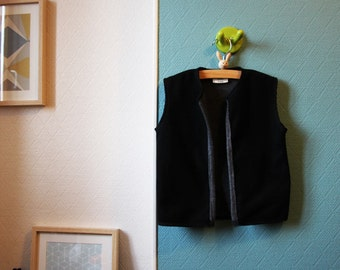 Vest internal contrast cotton boy - 4 years