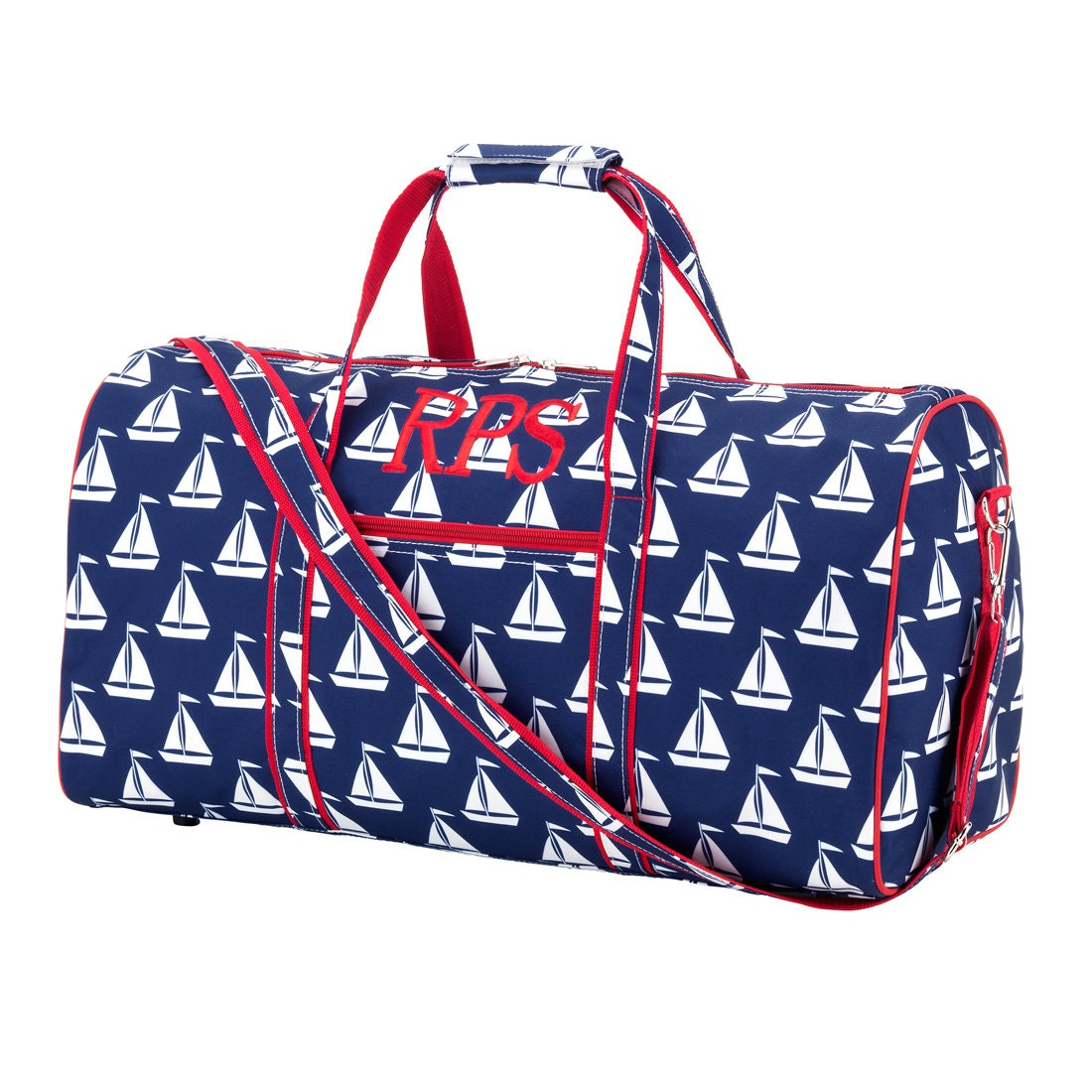 Sailboat duffel bag embroidered boys