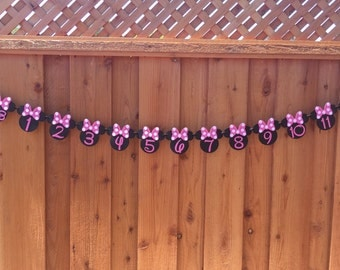 Minnie Mouse 12 Month Age Banner