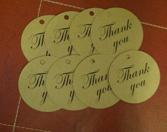 30 Thank You Tags - 2 Inch Circle