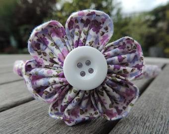 Alice Band, Hair Band. Purple, Lilac flowers. Handmade