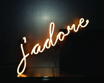 Neon Sign J'ADORE