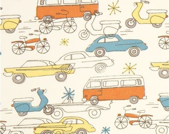 Cars Cream By Birch Organic Fabrics