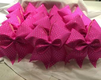 Hot Pink Cheer Bows
