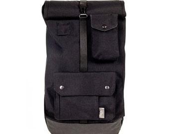 RollPAK II Black / Rolltop Backpack / Waterproof / Roll Top / Codura Backpack /  Bike backpack / Bicycle bag /