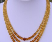 Amber Shades 3-Strand Vintage Necklace