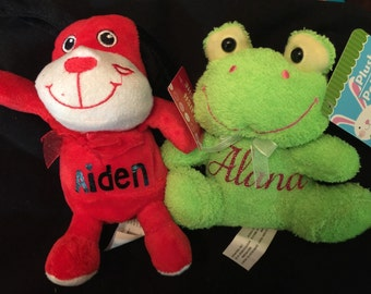 Personalized Valentine Plushies
