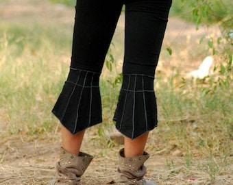 Leaf bottom leggings/yoga leggings/pixie leggings