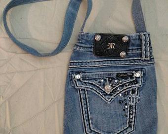 Miss Me Denim Bag