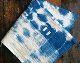 indigo dyed fabric swatch
