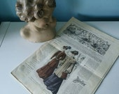 Antique French fashion magazine La Mode Illustree 21 December 1904