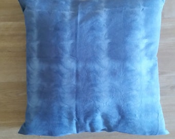 Hand dyed cushion, Shibori pillow, blue and white cushion, hand dyed pillow, shibori cushion, 20 x 20 inch pillow cover, Blue cushion cover